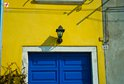 Beautiful colours of a house entrance in Rovinj
